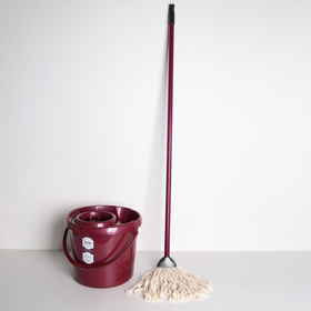 "Комплект для влажной уборки МОП: ведро со сливом 12 л, швабра, ""Лего"", цвет МИКС"