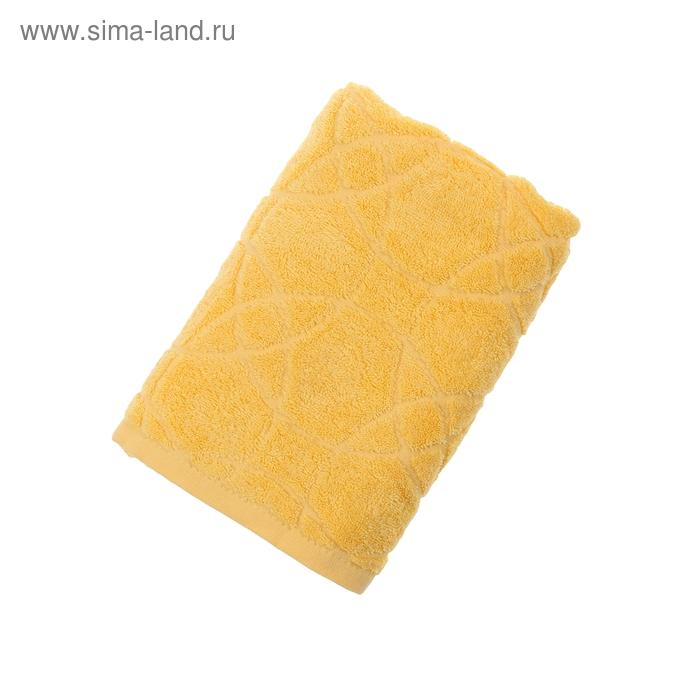 Полотенце махровое ITUMA жаккардовое ЖК100-2-008-030 50*100см,Французский желтый,хл.,380 г/м 10767