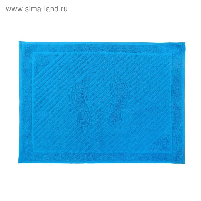 Коврик для ног махровый ITUMA 50*70см бирюзовый, 600 гр/м