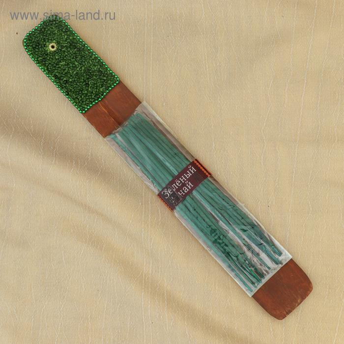 """Набор """"KARMA"""" Зеленый чай, 10 палочек с подставкой-лодочка"""