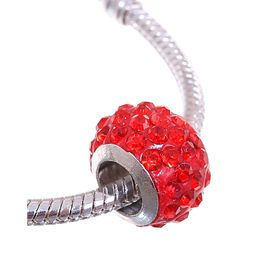 Bead Shambala drops, color red