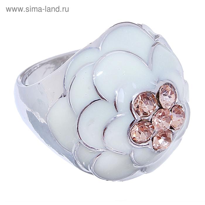 """Кольцо """"Цветок"""" объёмная розочка, цвет серебро, размер МИКС"""