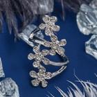 """Кольцо """"Цветочный каскад"""", цвет белый в серебре, размер 17,18,19 МИКС"""