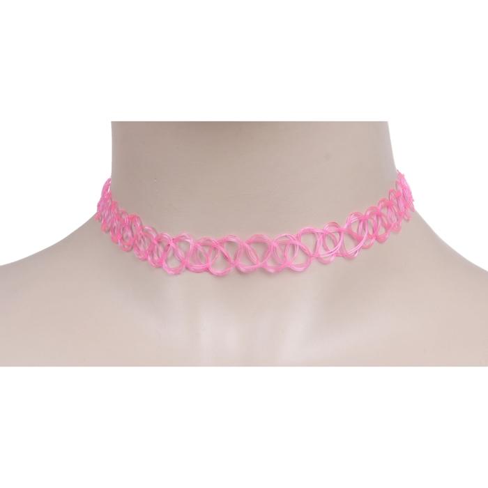 Чокер, цвет розовый