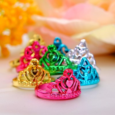 "Ring baby ""Crown"", color MIX, size MIX"