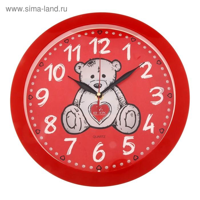 """Часы настенные круглые """"Мишка"""" детские"""