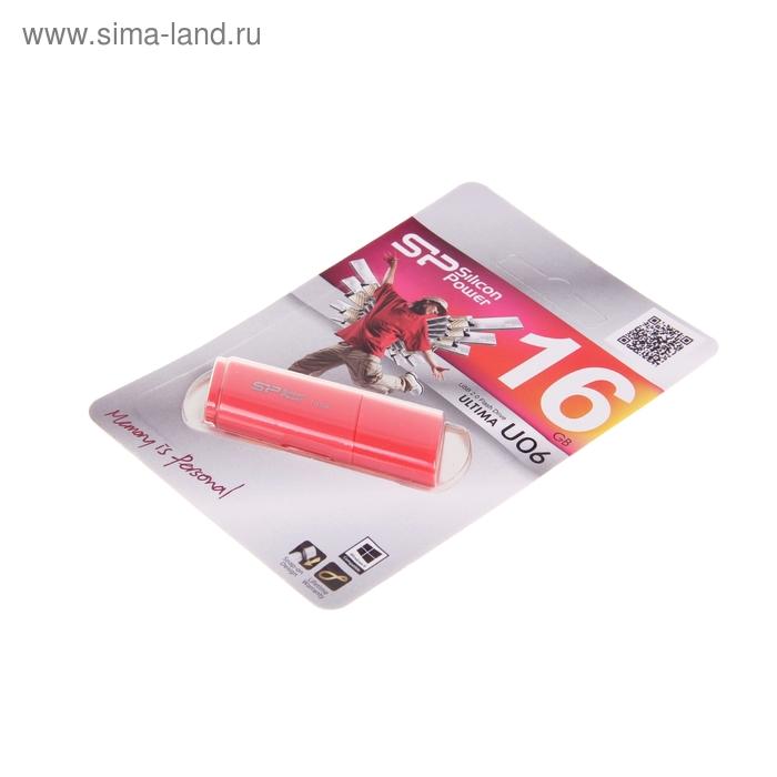 Флешка USB Silicon Power 16Gb Ultima U06 USB 2.0, розовая