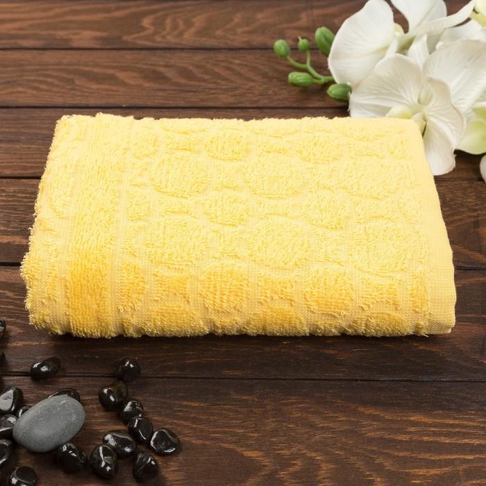 Полотенце махровое жаккард Opticum, размер 50х90 см, 360 гр/м2, цвет желтый