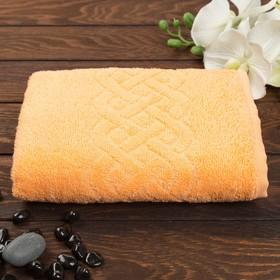 Terry towel Jacquard Plait 50x90 cm, color 116 orange, chl. 100% 360 g / m