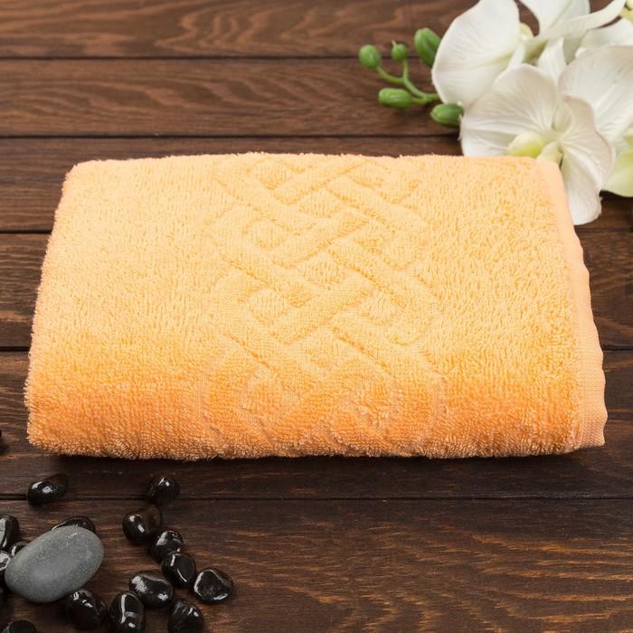Полотенце махровое жаккард Plait 50х90 см, цв 116 оранжевый, хл.100% 360 гр/м