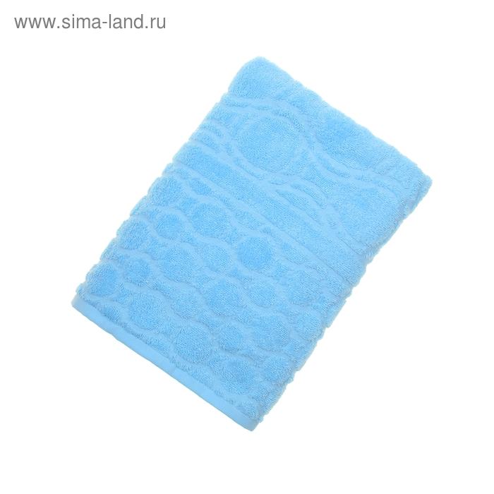 Полотенце махровое жаккард Opticum 70х130 см, цв 131 голубой, хл.100% 350 гр/м