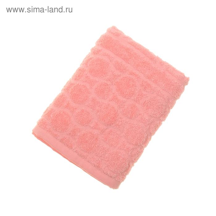 Полотенце махровое жаккард Opticum, размер 50х90 см, 360 гр/м2, цвет коралл