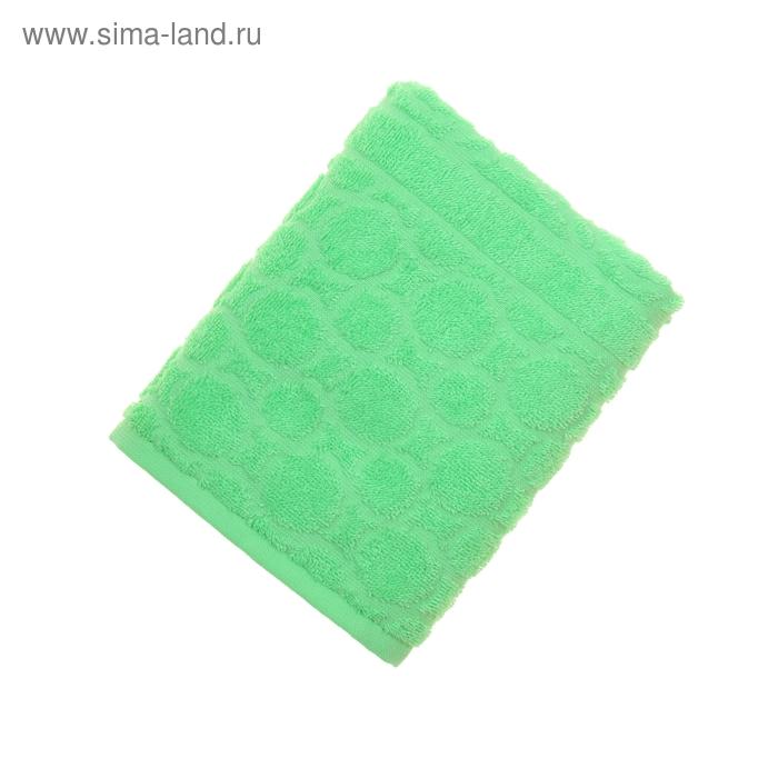 Полотенце махровое жаккард Opticum, размер 50х90 см, 360 гр/м2, цвет зеленый