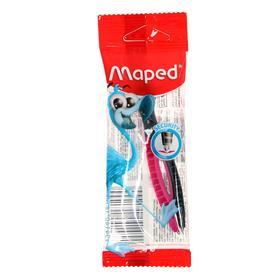 Циркуль пластиковый Maped Essentials, 120 мм, с безопасной иглой, в европодвесе
