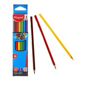 Карандаши трёхгранные, 6 цветов, Maped Color Peps