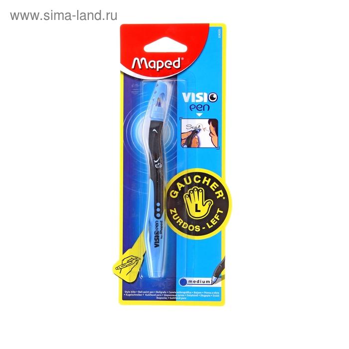 Ручка шариковая Maped для левшей VISIO стержень синий, блистер