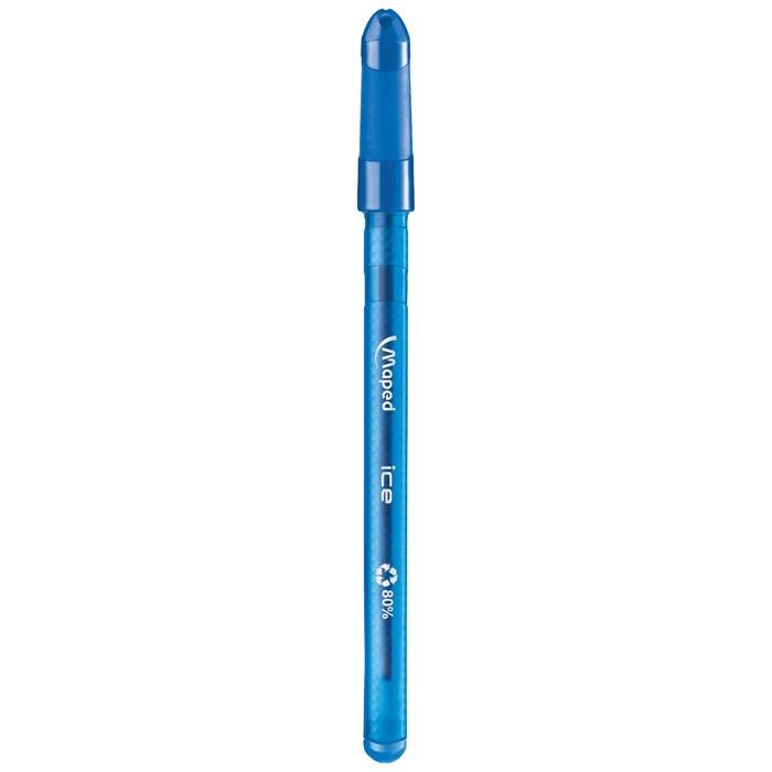 Ручка шариковая Maped Green Ice стержень черный, узел 0.6мм, треугольный корпус