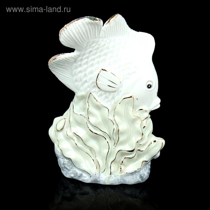 """Сувенир """"Белая рыбка в водорослях"""""""