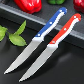 Нож кухонный «Волна», лезвие 10 см, цвет МИКС Ош