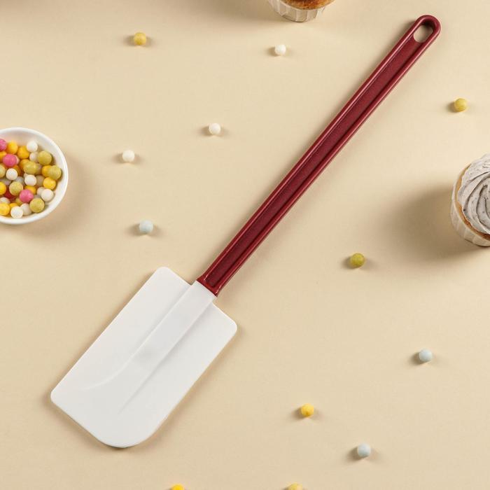 Шпатель силиконовый с пластиковой ручкой, длина 40 см