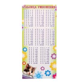 Мини-таблица умножения, с расписанием на обороте, котенок Ош