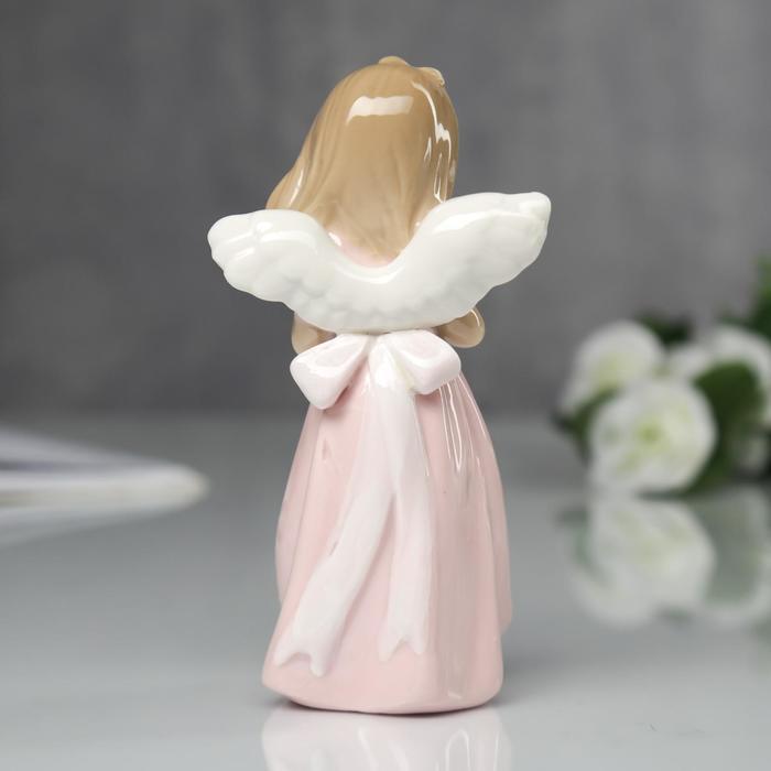 """Сувенир """"Ангел в розовом платьице с сердечком"""""""