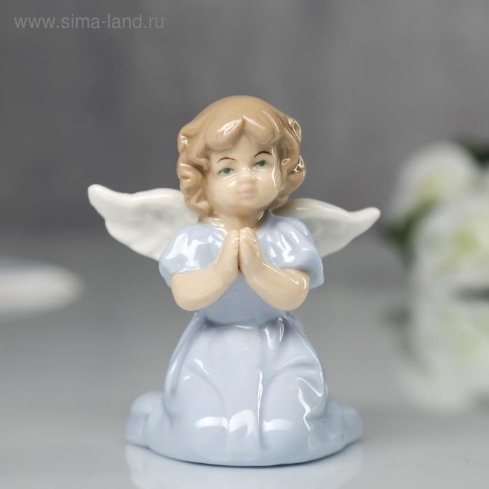 """Сувенир """"Ангел в голубом платьице сидит"""""""