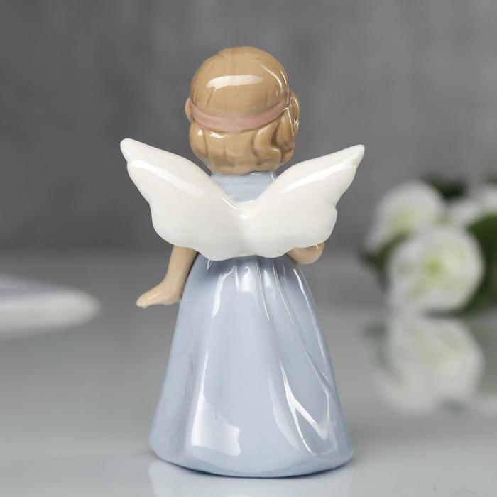 """Сувенир """"Ангел в голубом платьице с сердечком"""""""