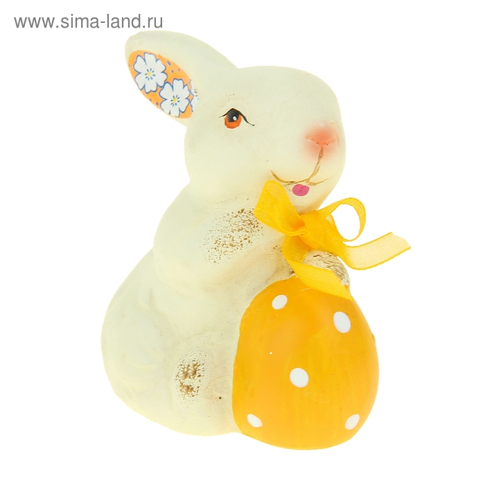"""Сувенир """"Кролик с пасхальным яйцом"""" МИКС"""