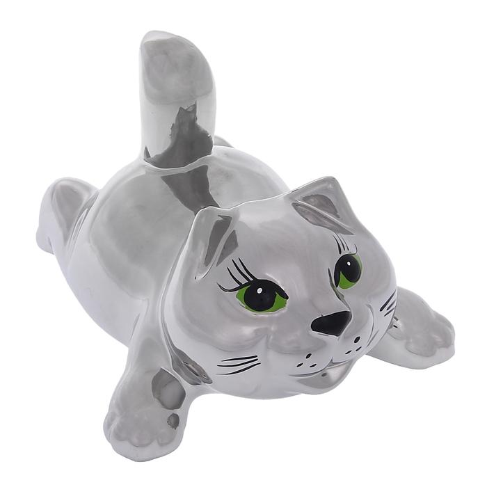 """Сувенир """"Кошка Тимоша"""" булат, серебро"""