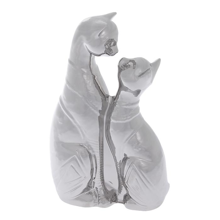 """Сувенир """"Коты"""" поцелуй, булат, серебро"""