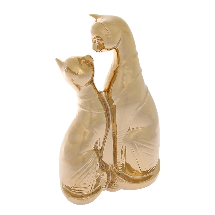 """Сувенир """"Коты"""" поцелуй, булат, золото"""
