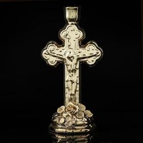 """Подсвечник """"Крест"""", булат, 21 см"""