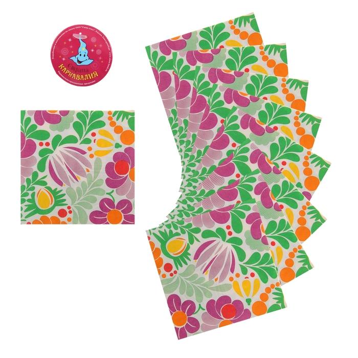 """Салфетки бумажные (набор 20 шт) """"Цветочная поляна"""" 33*33 см"""