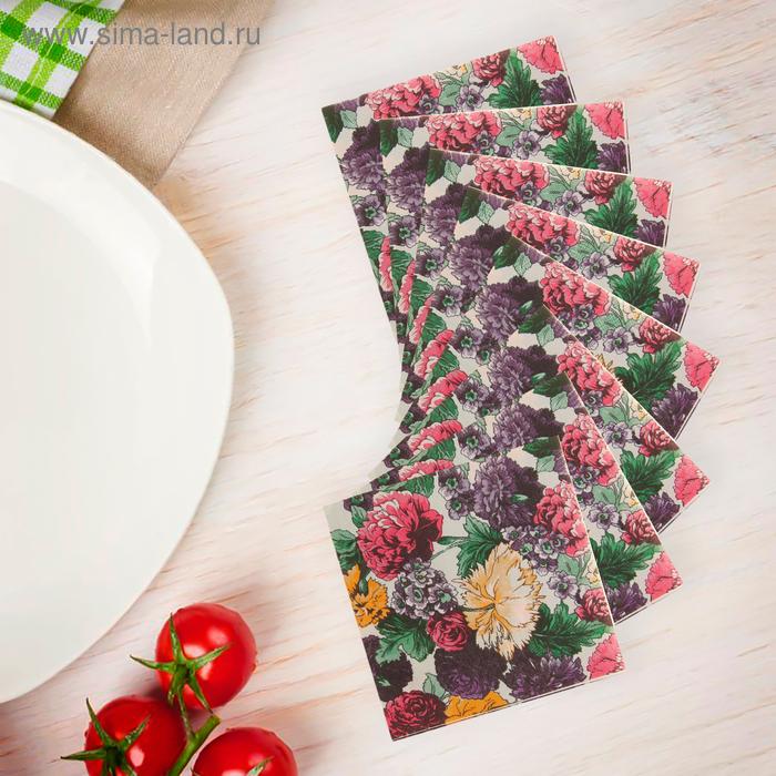 """Салфетки бумажные (набор 20 шт) """"Орхидеи"""", 33*33 см"""