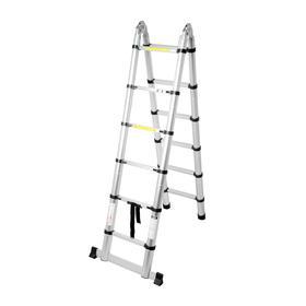 Стремянка-лестница телескопическая TUNDRA, раскладная, алюминиевая, 1.9 х 1.9 м