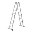 Лестница шарнирная TUNDRA comfort, 4х4 ступеней, алюминиевая