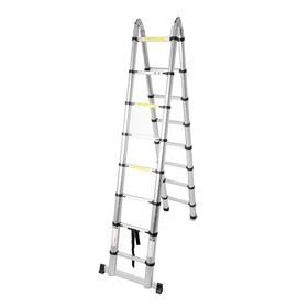 Стремянка-лестница телескопическая TUNDRA, раскладная, алюминиевая, 2.5 х 2.5 м