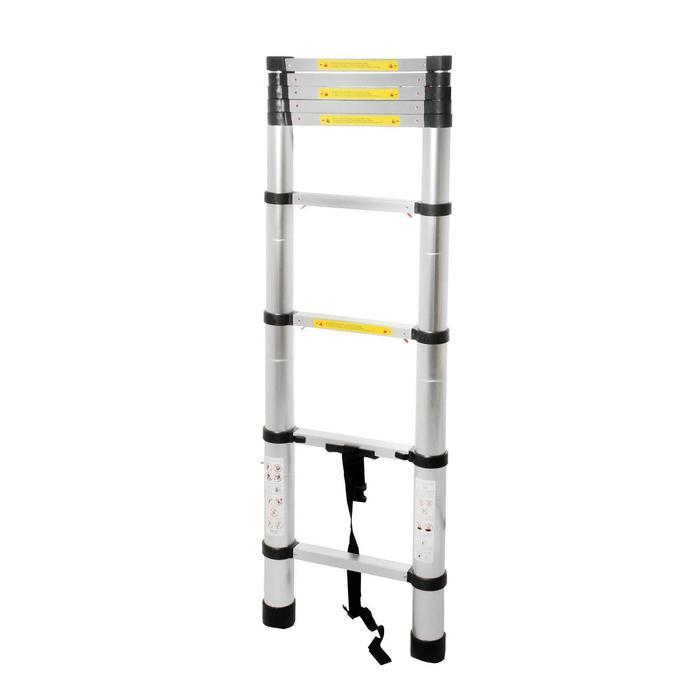 Лестница телескопическая TUNDRA premium, 11 ступеней, 3.2 м, алюминиевая