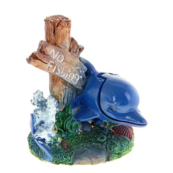 """Распылитель с дельфином """"No fishing"""", 13 х 11 х 10 см, полистоун"""