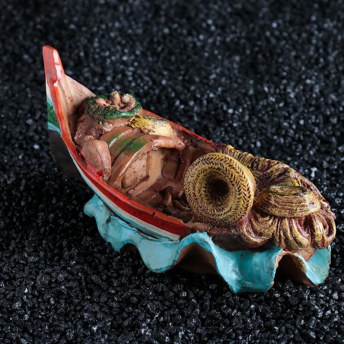 Рыбацкая лодка, 18 х 11 х 8,5 см, полистоун