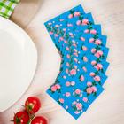 """Салфетки бумажные """"Букеты роз"""", набор 20 шт., 33 × 33 см, цвет синий"""