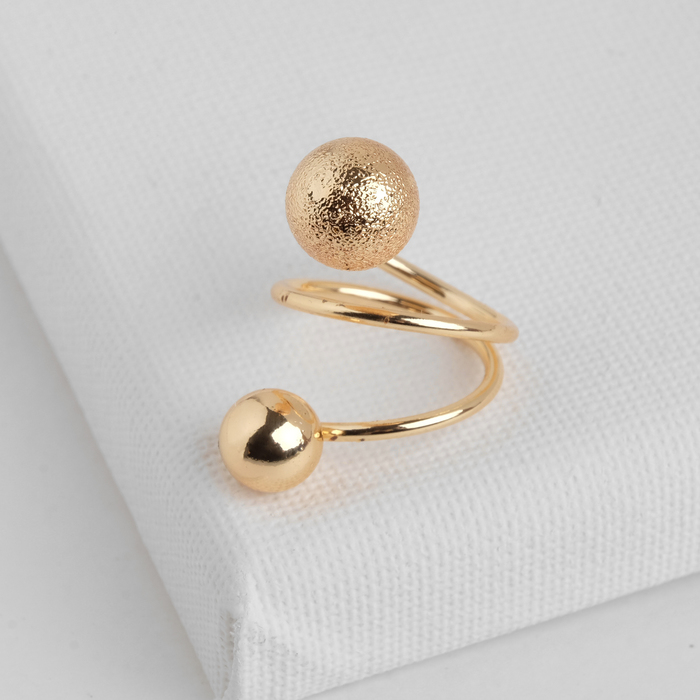 "Кольцо ""Шарики"" спираль, цвет золото, размер МИКС"