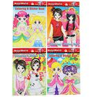 Coloring book, A6 size, 8 sheets + 1 sheet with stickers, Anime, MIX