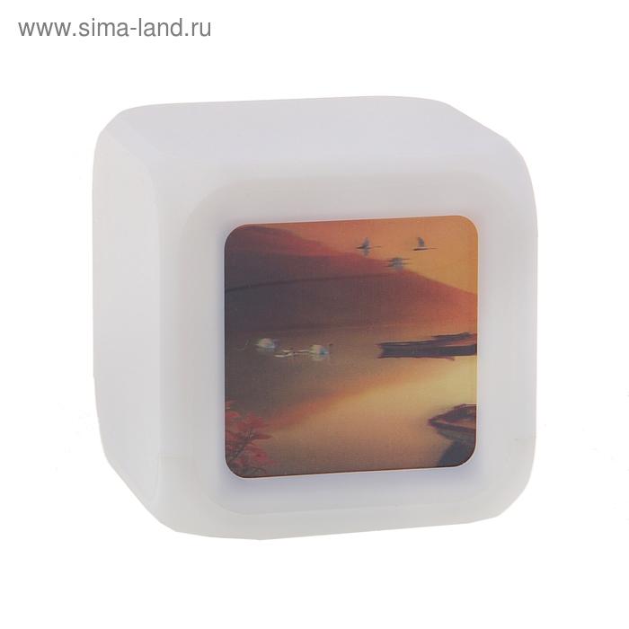 Часы-будильник с картинкой 3D
