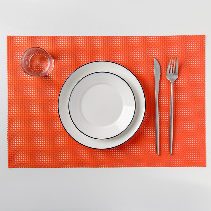 "Салфетка кухонная ""Рассвет"" 45х30 см, цвет красный"