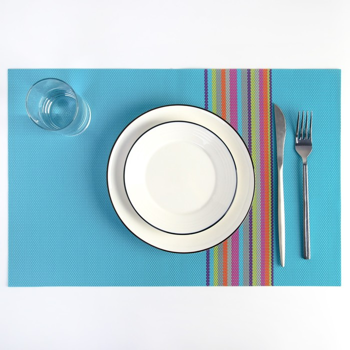 "Салфетка кухонная ""Спектр"" 45х30 см, цвет голубой"