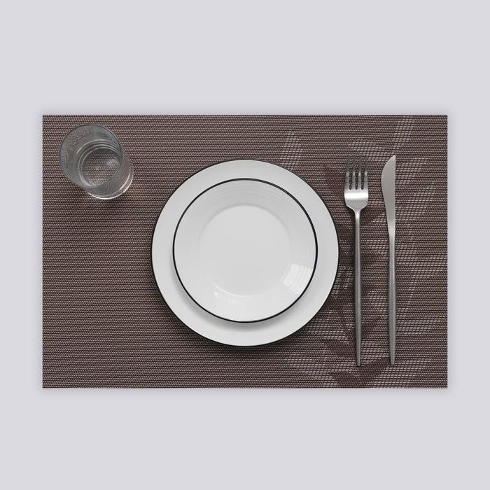 """Салфетка кухонная """"Росток"""" 45х30 см, цвет серый"""