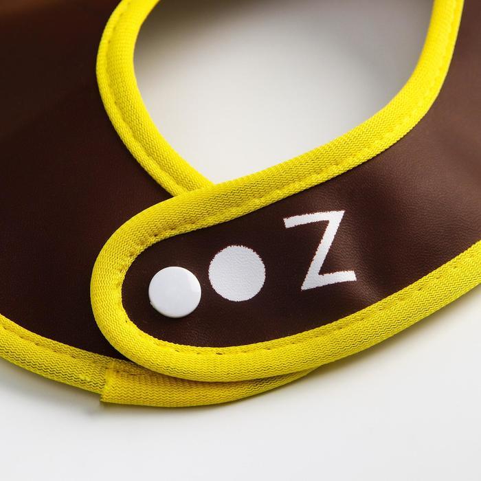 Нагрудник «Обезьянка» из клеёнки, с отворачивающимся карманом, на регулируемых кнопках