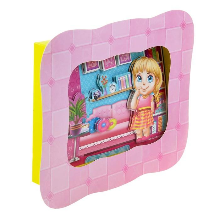 """3D картина - объемная аппликация """"Моя куколка"""""""
